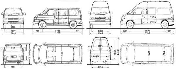 Длина салона фольксвагена транспортера фольксваген транспортер купить в перми
